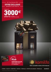 Promotion Komilfo du 13 au 23 janvier 2016