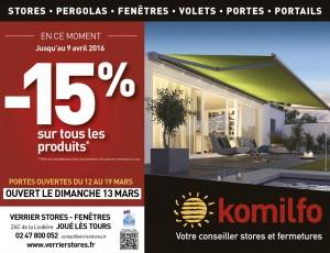 KOMILFO Verrier Stores et fenêtres - Portes ouvertes du 12 au 19 mars 2016