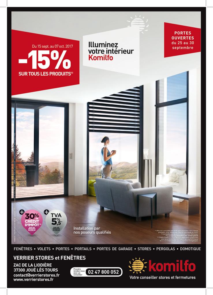 Komilfo - Verrier Stores et fenêtres - Portes ouvertes du 25 au 30 septembre 2017