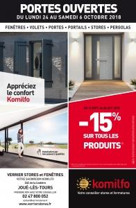 Verrier Stores & Fenêtres - PORTES OUVERTES du lundi 24 au samedi 6 octobre 2018