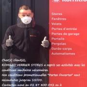 COVID 19 - Reprise de l'activité chez KOMILFO Verrier Stores et Fenêtres